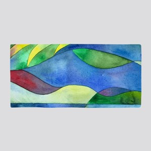Jungle River Abstract Beach Towel