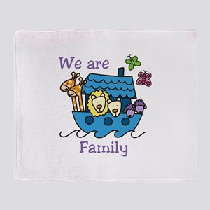 We Are Family Throw Blanket