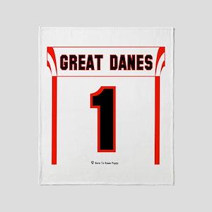 Great Dane Jersey Throw Blanket