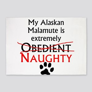 Naughty Alaskan Malamute 5'x7'Area Rug