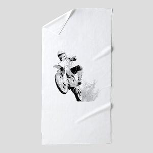 Dirtbike Wheeling In Mud Beach Towel
