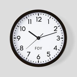 Foy Newsroom Wall Clock
