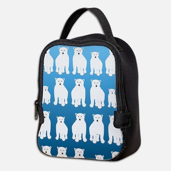Polar Bears Neoprene Lunch Bag