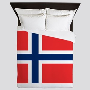 Flag of Norway Queen Duvet
