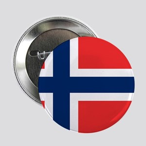 """Flag of Norway 2.25"""" Button"""