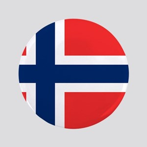"Flag of Norway 3.5"" Button"