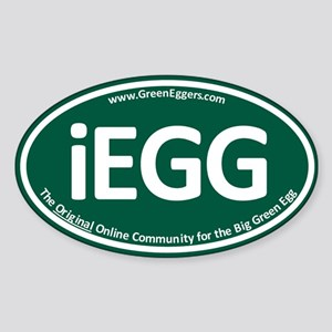 GreenEggers iEgg Oval Sticker Sticker
