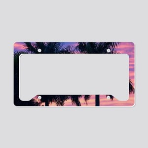 Palm Trees and Sunset License Plate Holder