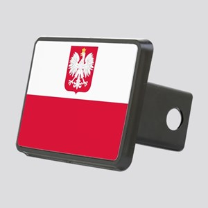 Polish Flag Coat of Arms Hitch Cover