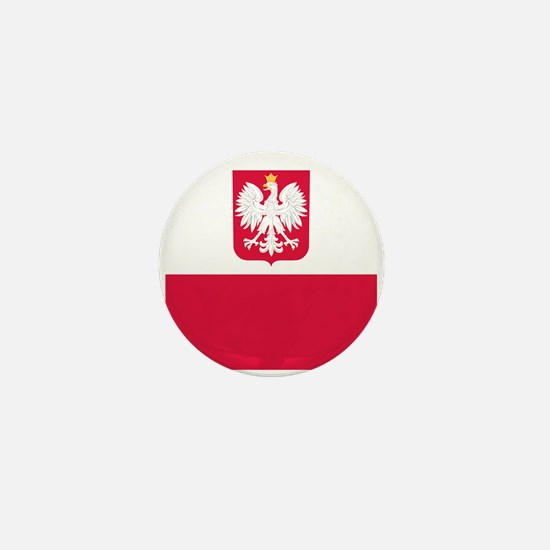 Polish Flag Coat of Arms Mini Button