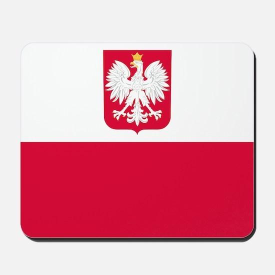Polish Flag Coat of Arms Mousepad