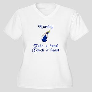 Nurse Women's Plus Size V-Neck T-Shirt