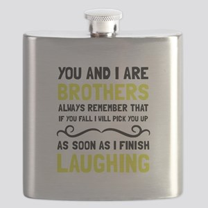 Brothers Laughing Flask