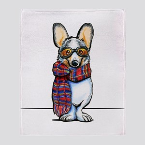Cool Corgi Throw Blanket
