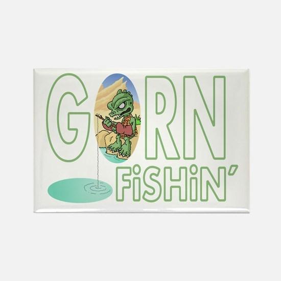 Gorn Fishin Cartoon Magnets