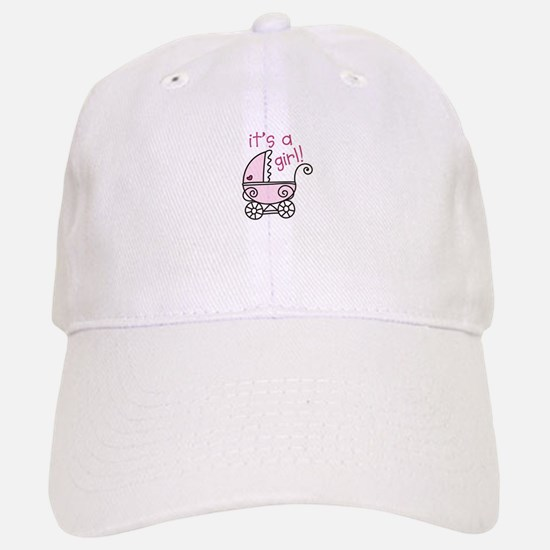 Its A Girl Baseball Baseball Baseball Cap