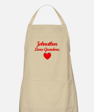 Johnathan Loves Grandma BBQ Apron