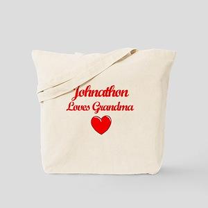 Johnathan Loves Grandma Tote Bag