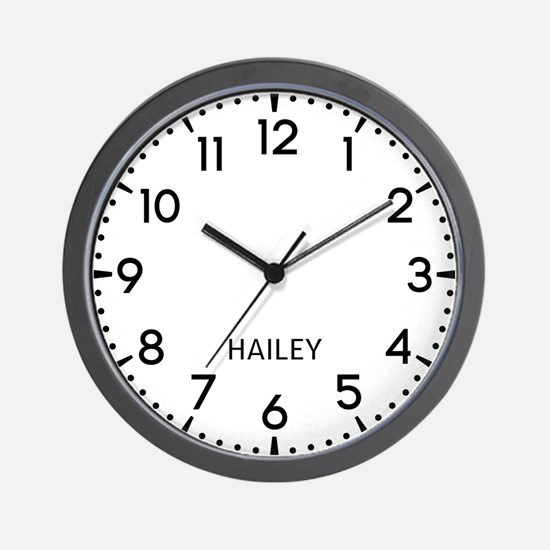 Hailey Newsroom Wall Clock