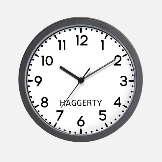 Haggerty Newsroom Wall Clock