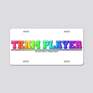 team_player_5 Aluminum License Plate