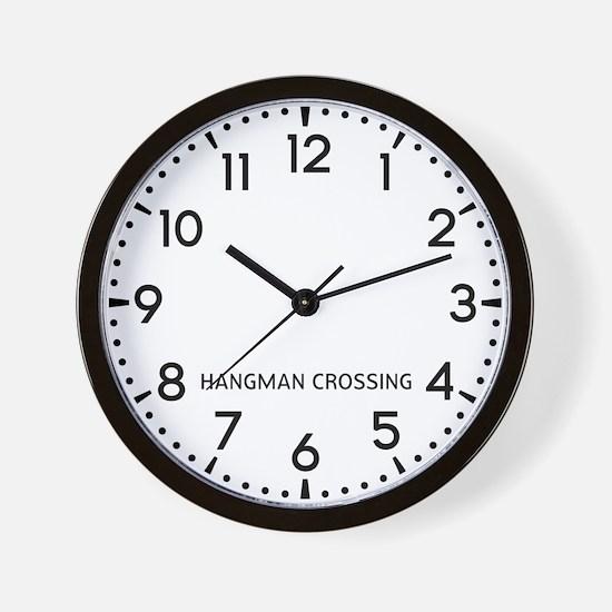Hangman Crossing Newsroom Wall Clock