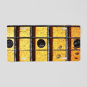 Vintage Guitar Frets Aluminum License Plate