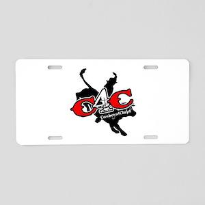 New C4c Bull Rider Design Aluminum License Plate