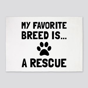 Favorite Breed Rescue 5'x7'Area Rug