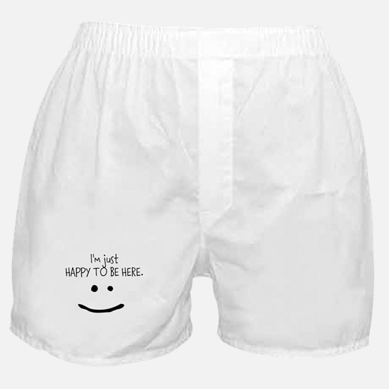 happy to be here (light) Boxer Shorts