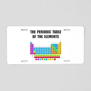 Periodic Table Elements Aluminum License Plate