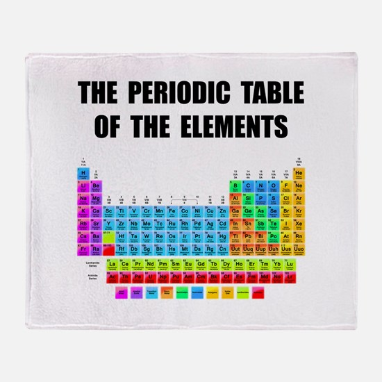 Periodic Table Elements Throw Blanket