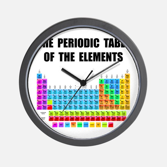 Periodic Table Elements Wall Clock