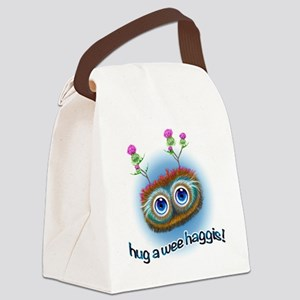 Hoots Toots Haggis Blue Sky Canvas Lunch Bag