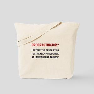 Procrastinator Tote Bag