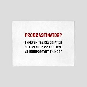 Procrastinator 5'x7'Area Rug