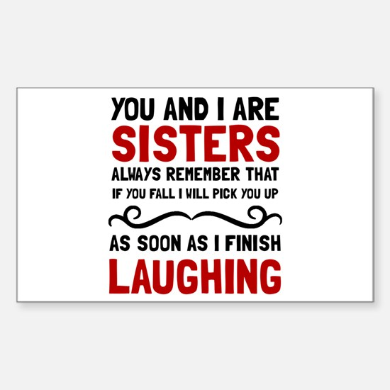 Sisters Laughing Decal