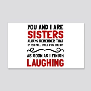 Sisters Laughing Wall Decal