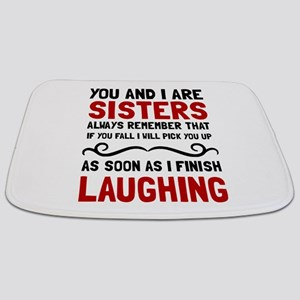Sisters Laughing Bathmat