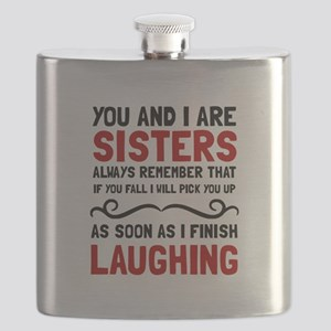 Sisters Laughing Flask