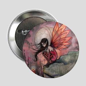 "Autumn Flame Fairy Fantasy Art 2.25"" Button"