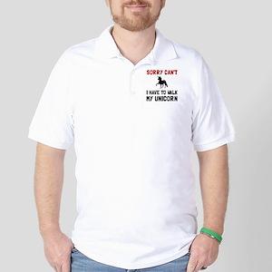 Walk Unicorn Golf Shirt