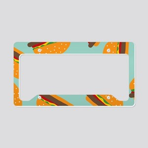 Cute Burger Pattern License Plate Holder