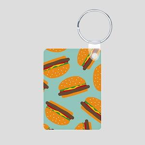Cute Burger Pattern Keychains