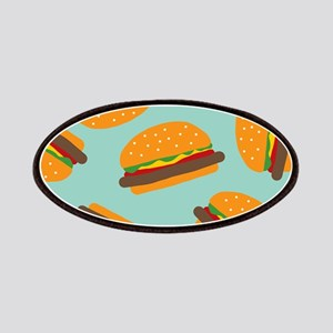 Cute Burger Pattern Patches