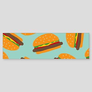 Cute Burger Pattern Bumper Sticker