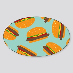 Cute Burger Pattern Sticker