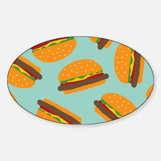 Cute Burger Pattern Decal