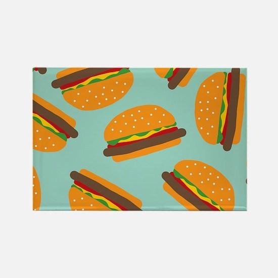 Cute Burger Pattern Magnets