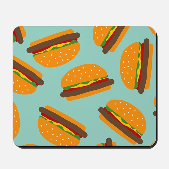 Cute Burger Pattern Mousepad